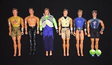 Lot of 6 Max Steel N-TEK Action Figures and Accessories by Mattel 1998-2007-Used