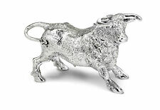 UK Hallmarked Sterling Silver Harrison Brothers Bull Sculpture 9387