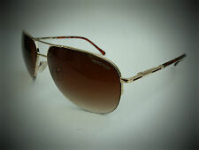 NEW men's KENNETH COLE KC 1098 gold semi rimless aviator sunglasses