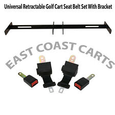 Golf Cart Retractable Seat Belt Kit w/ Mounting Bracket Club Car, Yamaha, EZGO