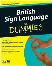 NEW British Sign Language For Dummies by City Lit Centre for the Deaf Paperback