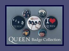 Queen - Freddie Mercury Button Badge Collection Set 1 FREEPOST
