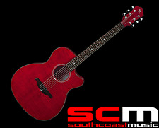 RRP $400 BC RICH AC/EL ACOUSTIC ELECTRIC GUITAR TRANS RED