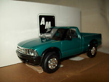 AMT/ERTL #6118, 1994 CHEVROLET S-10 4X4 PICKUP TRUCK, TEAL GREEN METALLIC, MIB