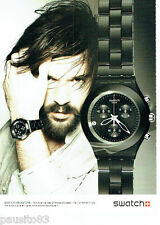 PUBLICITE ADVERTISING 066  2011  la montre Swatch homme