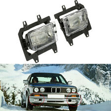 For 85-93 BMW E30 3-Series 2Dr Front Bumper Clear OE Fog Lights Lens Kit A
