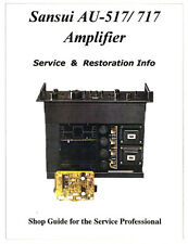 SANSUI AU-517 AU-717 Amp -Power Protector problem solved  +Repair Parts Included