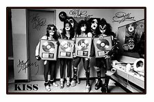 KISS - HUGE AUTOGRAPHED PHOTO POSTER PRINT - GREAT GIFT - GET IT NOW!