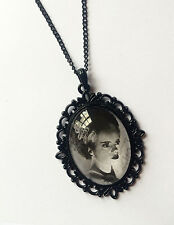 HANDMADE BRIDE OF FRANKENSTEIN PHOTO PENDANT/NECKLACE (GOTH, HORROR, GOTHIC)