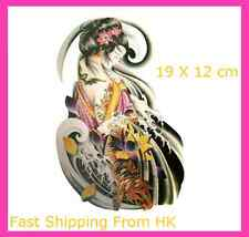 New Japanese Girl Body Art Decal Temporary Removable Tattoo HC2023