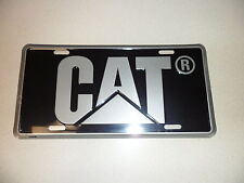Caterpillar black & gray license plate tag Cat Logo New