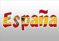 SPAIN ESPANA  FLAG CAR WINDOW STICKER DECAL for TRAILER CAR UTE TRUCK
