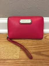 Marc By Marc Jacobs 'Q Wingman' Pink Leather Wallet Wristlet