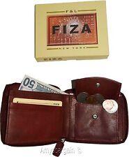 Men's zip around Leather Wallet. Bifold zip around wallet. Fiza wallet in box BN