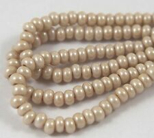 "Czech Glass Seed Beads Size 6/0 "" PEARL SILK LIGHT TAUPE  "" strands"