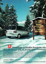 Publicité Advertising 2000  CITROEN EVASION HDI