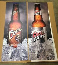 Beer Signs - Coors Banquet & Coors Light Beer - double sided - ALMOST GONE!