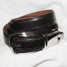 Golf Green friendly - leather belt with built in Divot tool & ball markers Brown