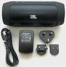 JBL Charge 2 Black Portable Bluetooth Speaker Device Charger Passive Radiators