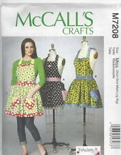 McCALL'S SEWING PATTERN MISSES' APRONS WITH PETTICOAT SIZES XSM - XIG   M7208