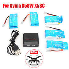 5in1 USB Charger +5pcs 3.7V 25C 850mAh Li-Po Battery for Syma X5SW X5SC RC Drone