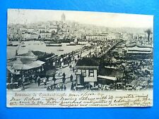 Postcard Turkey Constantinople 1902 City View British Post Office Cancel to USA