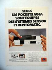PUBLICITE-ADVERTISING :  AGFA Pocket Agfamatic  1977 Appareil Photo
