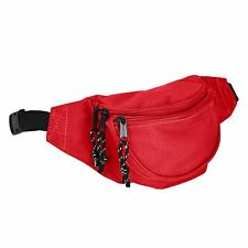 DALIX Fanny Pack Red Black Blue Navy Royal Money Pouch Running Pack