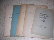 1925.Offray de la Mettrie / Lemée.5 plaquettes.envoi autographe.