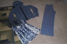 Lot of Lululemon Classic Pants, Hoodie and Tank Top sz 6