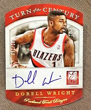 2013-14 Elite Dorell Wright Turn Of The Century Auto /100 Blazers RARE!!