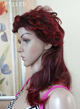 blond/moroon or gray mix long hair in back&short wavy cut on top Full Wig,ESTER