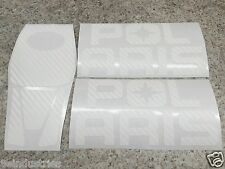2015/16 Polaris RZR 900s 900 900xc Inlay Decals FULL SET - White Carbon Fiber