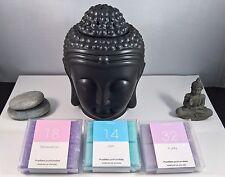 Brûle-parfums bouddha noir mat en céramique pour pastilles fondantes bien-être