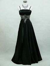 Cherlone Plus Size Black Ballgown Bridesmaid Wedding Formal Evening Dress 22-24