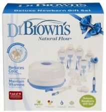 Baby Steralising Kit Dr Brown's Natural Flow Gift Set No Vacuum/Air Bubbles NEW