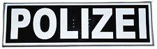 Rückenschild Polizei Klett 33 x 10cm negativ schwarz