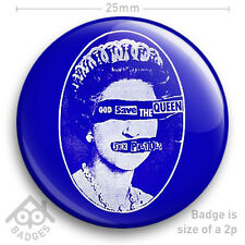 """The Sex Pistols GOD SAVE THE QUEEN Record Cover JAMIE REID - NEW - 25mm 1"""" Badge"""