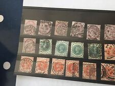 GB UK Victoria 36 stamps on stock cards varied condition very high cat value £££