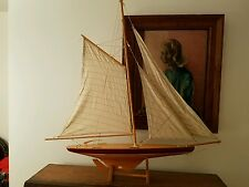 Unique Concepts 1895 America's Cup Racer Wood Model Sailing Boat