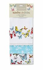 Butterflies in the Kitchen pack of 3 Tea Towels by Cooksmart 100% Cotton