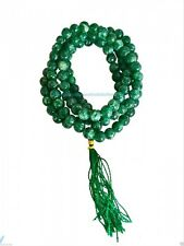 Jade Mala Prayer Beads 108, crystal, Buddhist, meditation, japa, Hinduism