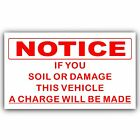 If You Soil,Mess,Damage this Vehicle Sticker -Taxi,Minicab Cab Driver Car Sign