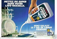 Publicité advertising 1987 (2 pages) Le Gel de lavage Lave Vaisselle Galaxy