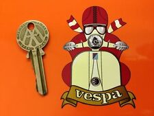 VESPA CAFE RACER Pudding Basin Helmet SCOOTER STICKER