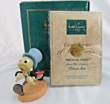 "WDCC ""Wait for me, Pinoke!"" Jiminy Cricket from Disney's Pinocchio in Box COA"