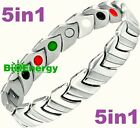 STAINLESS Magnetic Energy Germanium Armband Power Bracelet Health JADE 5in1 Bio