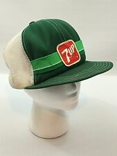 Vintage 7 Up Soda Trucker Mesh SnapBack Hat - USA Made - Rare