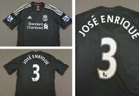 The Reds 2011-12 adidas Liverpool FC Away Shirt JOSE ENRIQUE 3  SIZE M (adults)