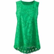 Cabi  Gemma Top - Size S -  Green, Embroidered, Cotton, New in Pkg